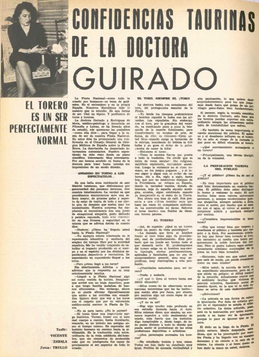 «El torero es un ser perfectamente normal» ( El Ruedo )