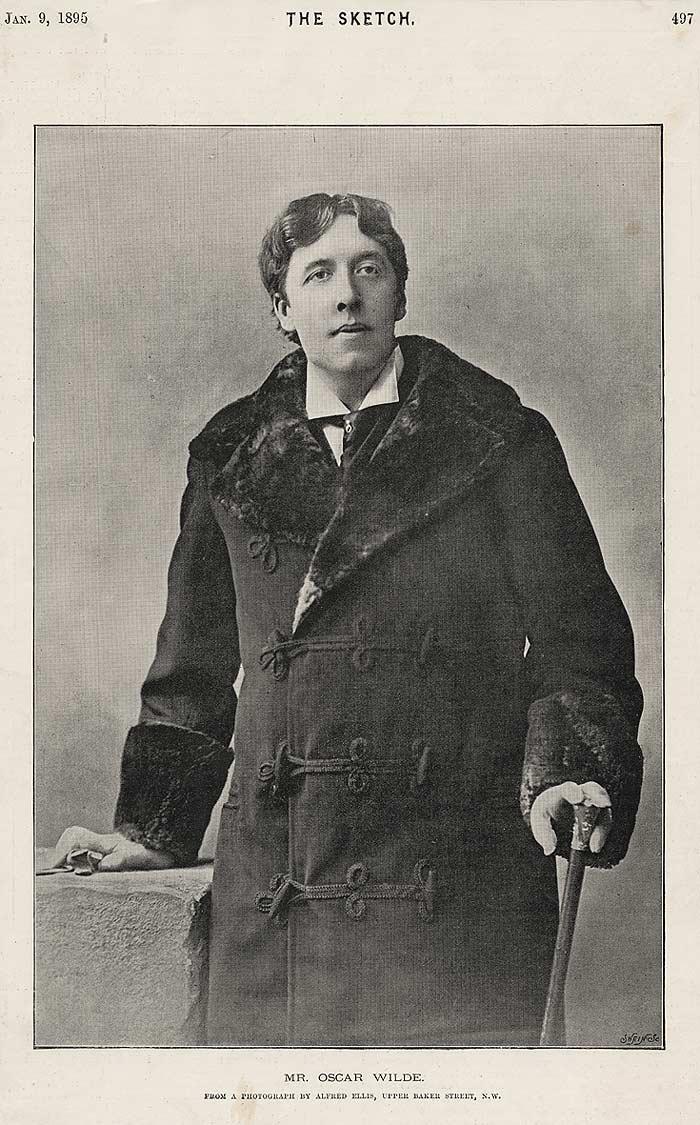 Oscar Wilde en una fotografía de 1895