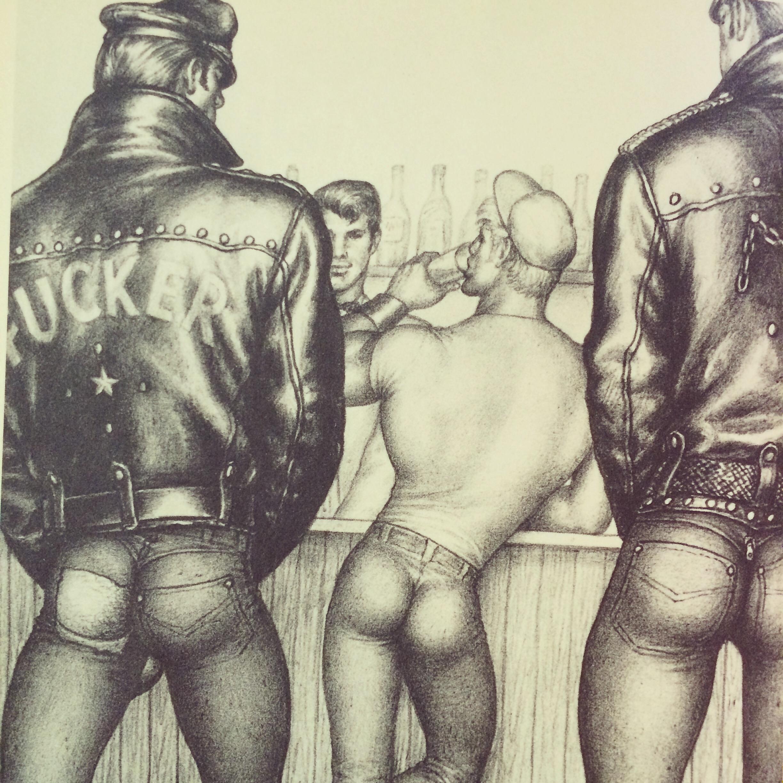 El arte de Tom Finlad y los gay bikers