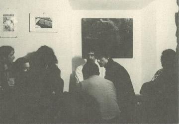 Otro instante de la visita de Zappa a La Carbonería
