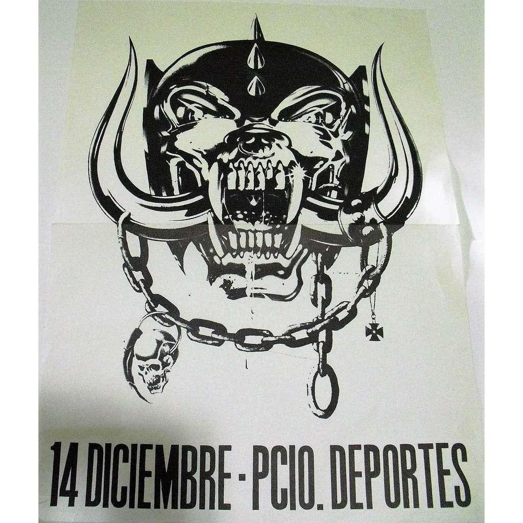 Póster del show de Motörhead en Barcelona