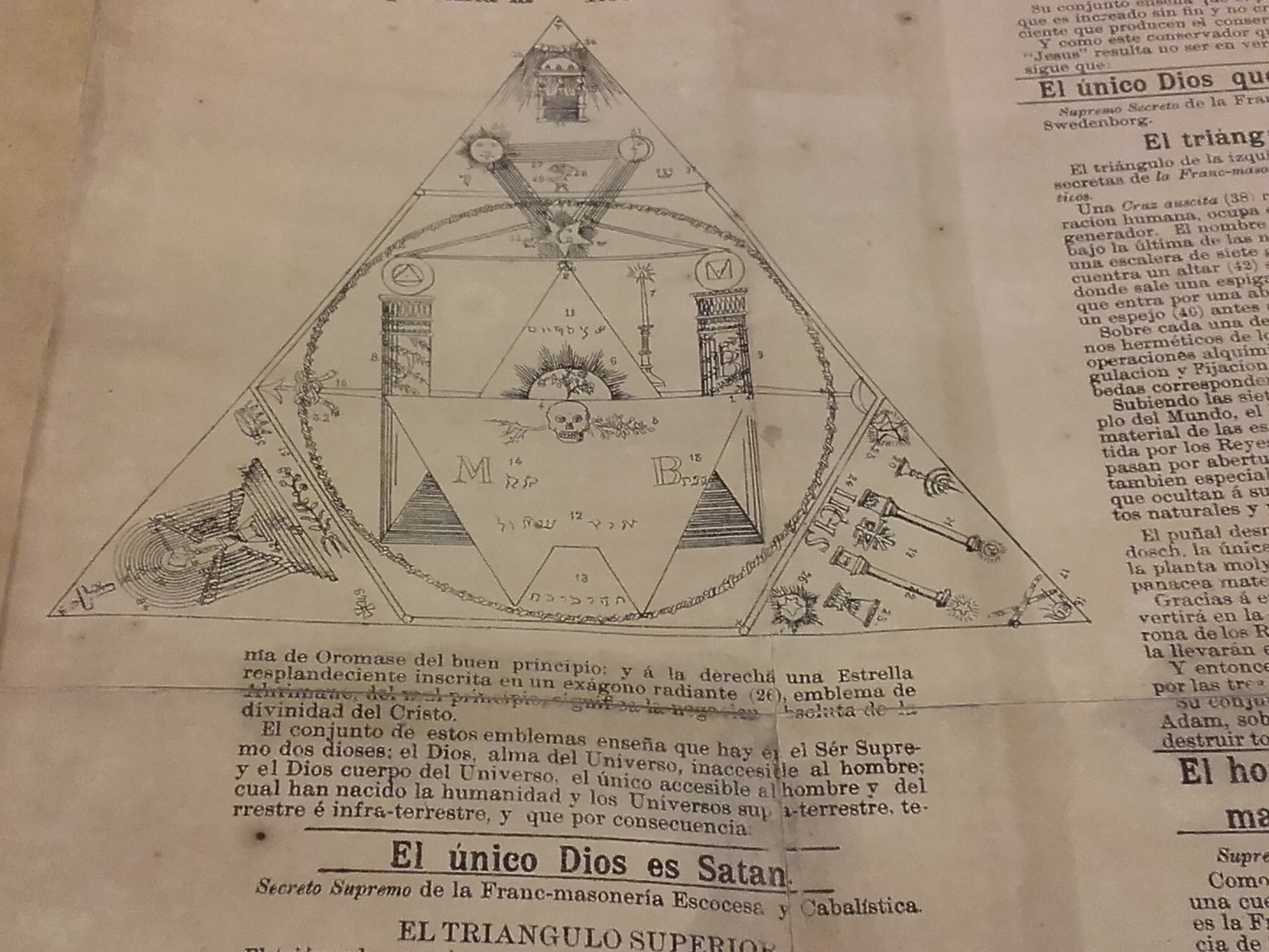 Portada e interior de la primera edición de  Satán y Cía.  de Pablo Rosen (1888)