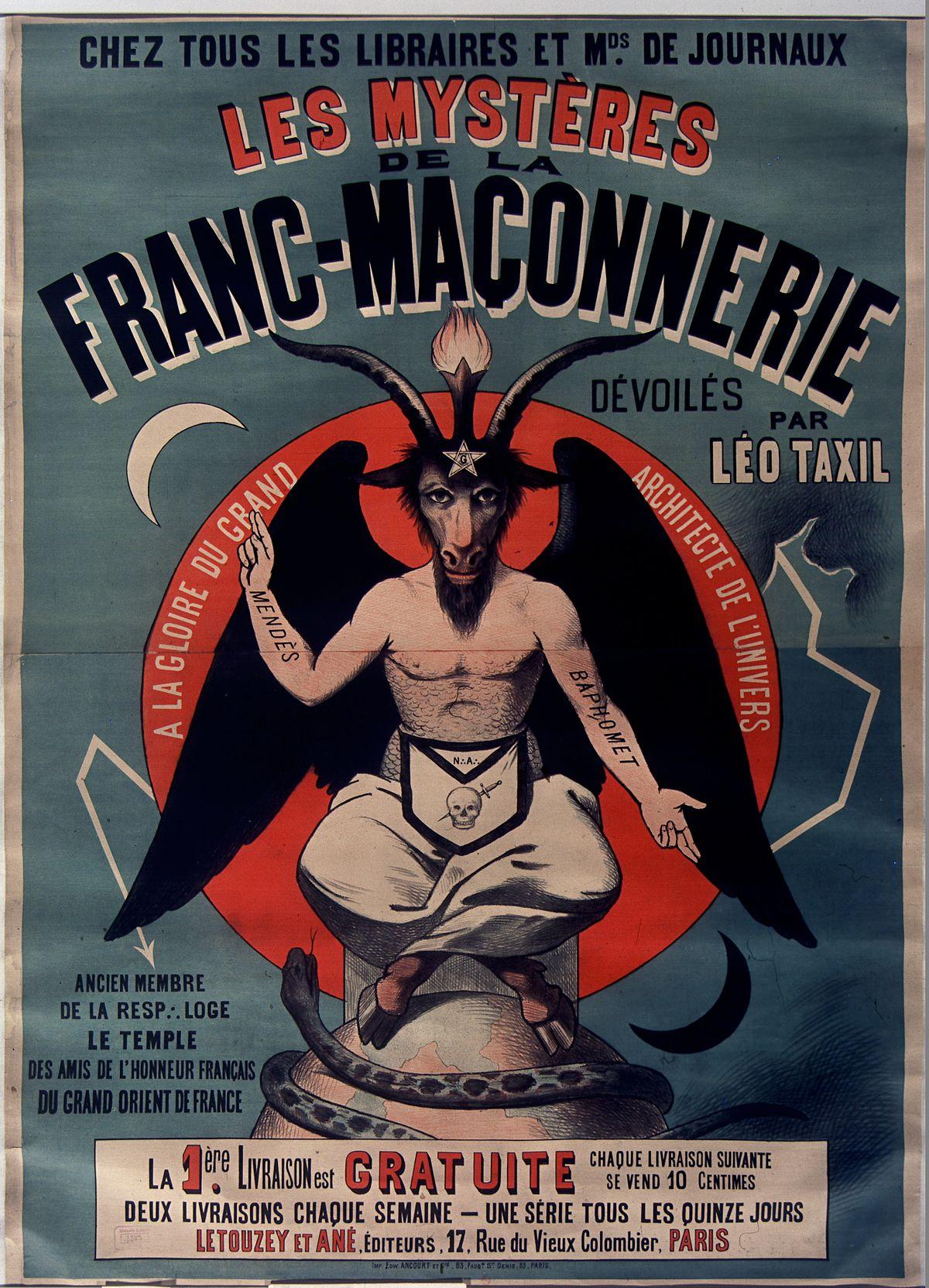 Les mystères de la franc-maçonnerie  (1886) de Léo Taxil