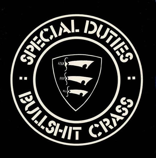 Portada del single de Special Duties  Bullshit Crass