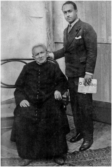 El padre Cicero junto a su secretario Botto