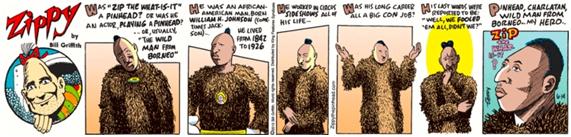 Tira cómica dedicada a Zip the Pinhead