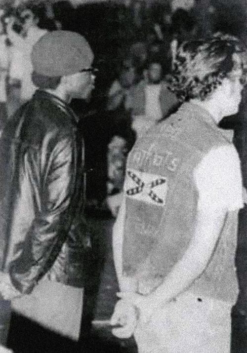 Panteras Negras y Jóvenes Patriotas durante un mítin conjunto