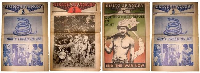 Varios números de  Rising Up Angry , periódico de la Rainbow Coalition
