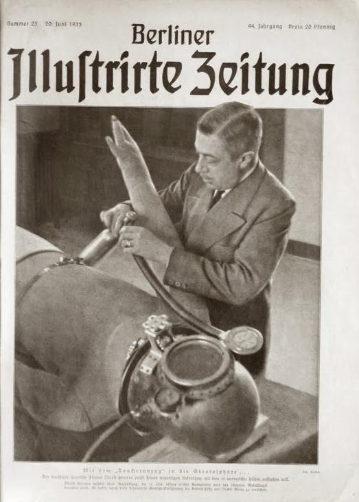 Portada del  Berliner Ilustrarte Zeitung  dedicada a él y su invento (1935)