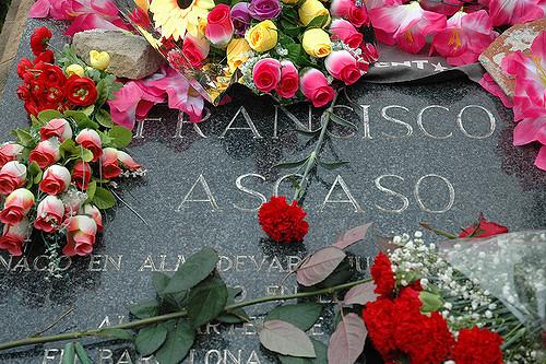 Tumba de Francisco Ascaso en el cementerio de Montjuic. Fotografía: Bdext