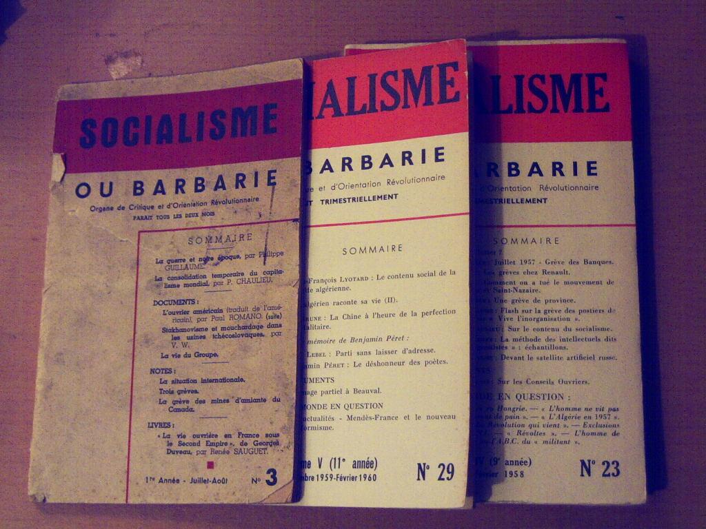 Varios números de Socialisme ou Barbarie