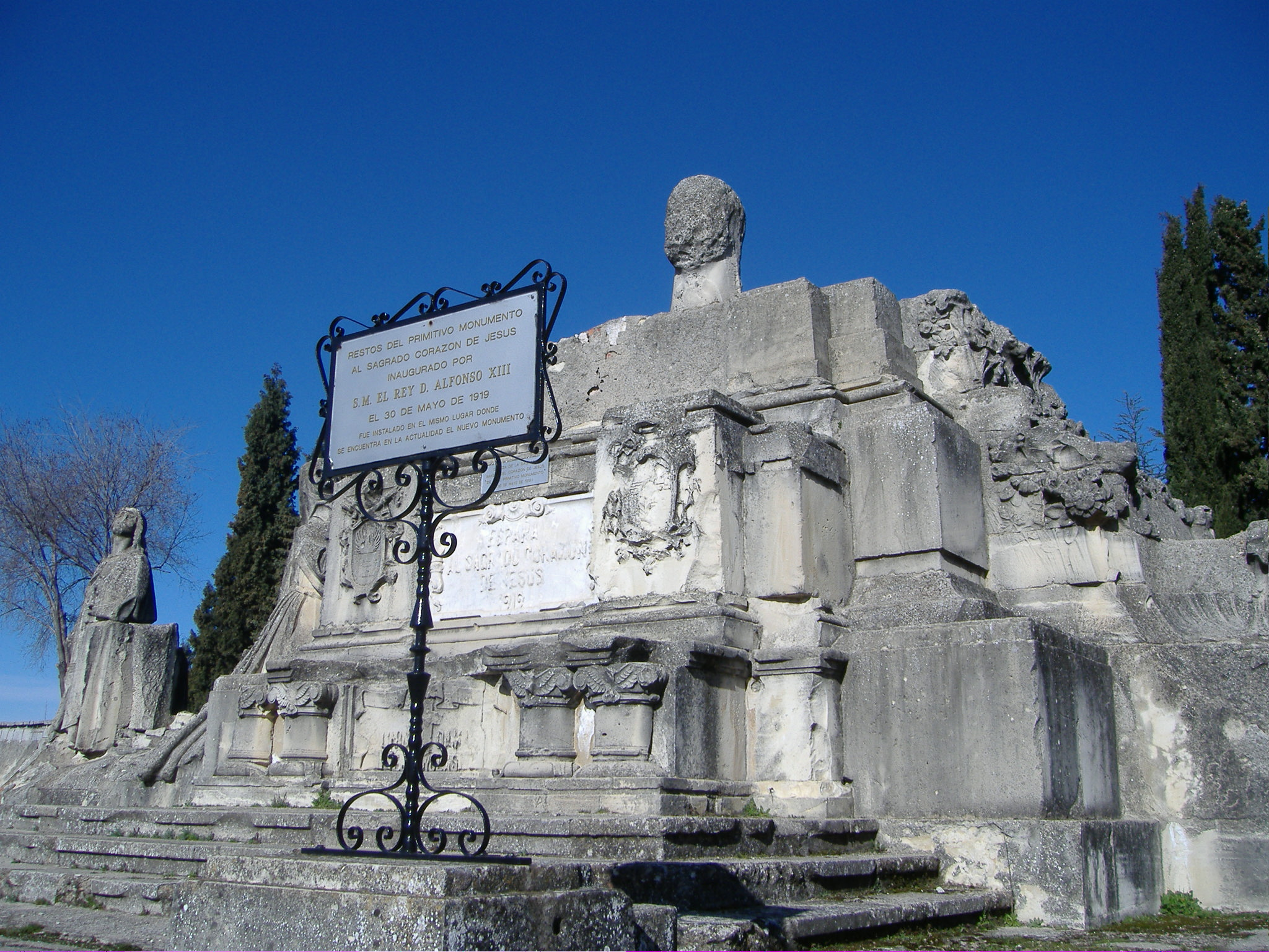El monumento original tal y como se conserva y exhibe en la actualidad