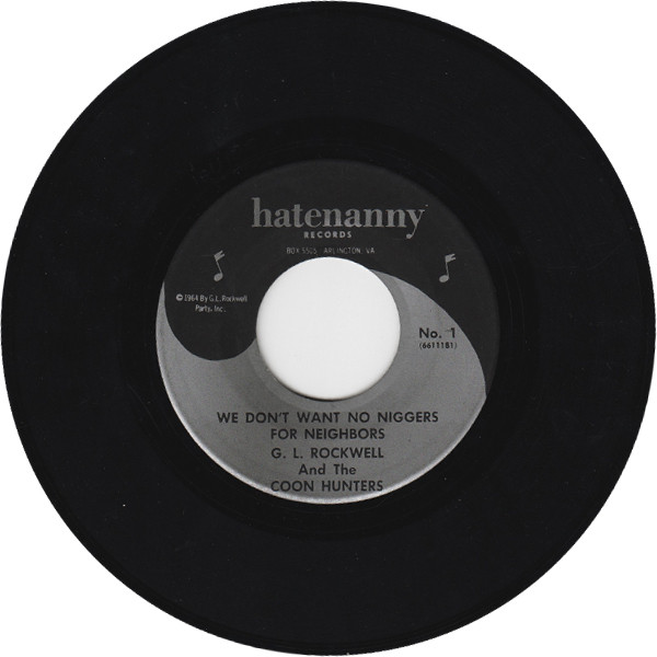Single de George Rockwell para The Hatenanny Records