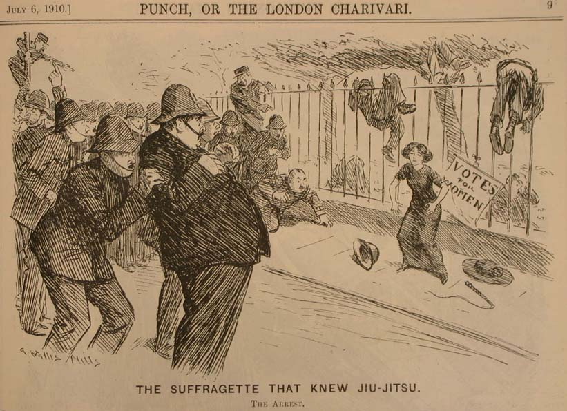 The Suffragette That Knew Jiu-Jitsu ,  Punch , 6 de julio de 1910