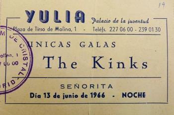Entrada para The Kinks en Yulia, junio de 1966