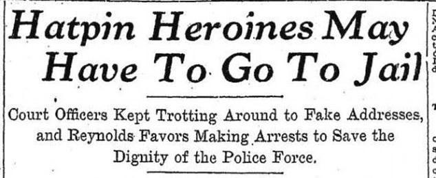 Mujeres que usaron los alfileres enfrentándose a prisión