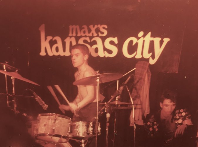 Flanagan con The Stimulators en el Max's Kansas City, Nueva York (1980). Fotografía: Rose Feliu Pettet