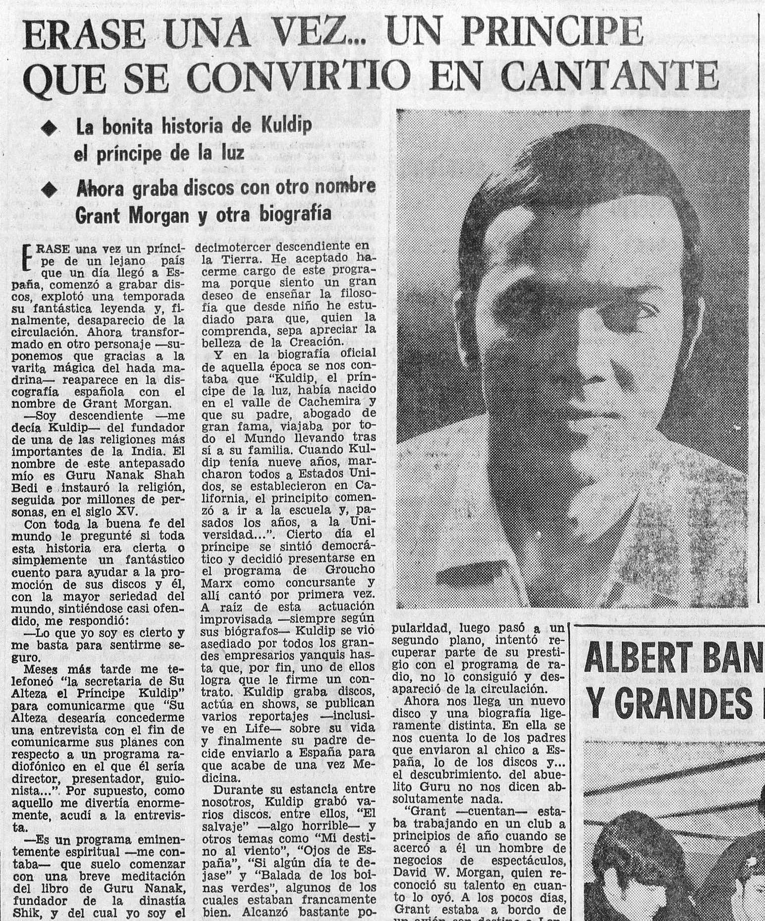 Entrevista con Kuldip ( Diario de Burgos , abril de 1969)