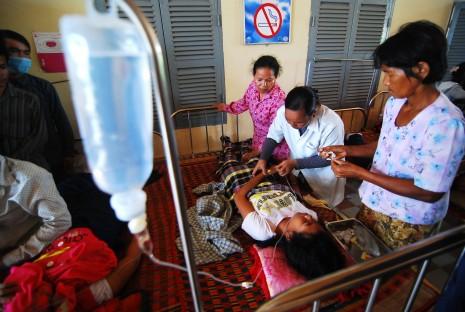 Enfermos del Anful Garments Factory trasladados al hospital