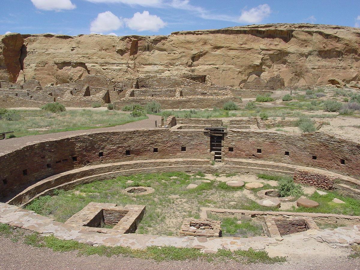 Ruinas de antiguos pueblos Anazasi de Nuevo México