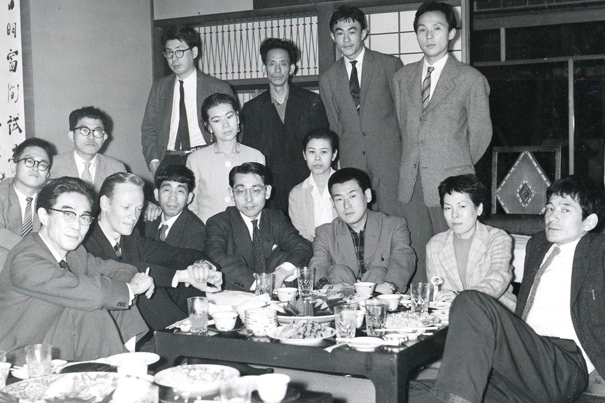 Gutai group en Osaka (1959). Fotografía: Christo-Coetzee