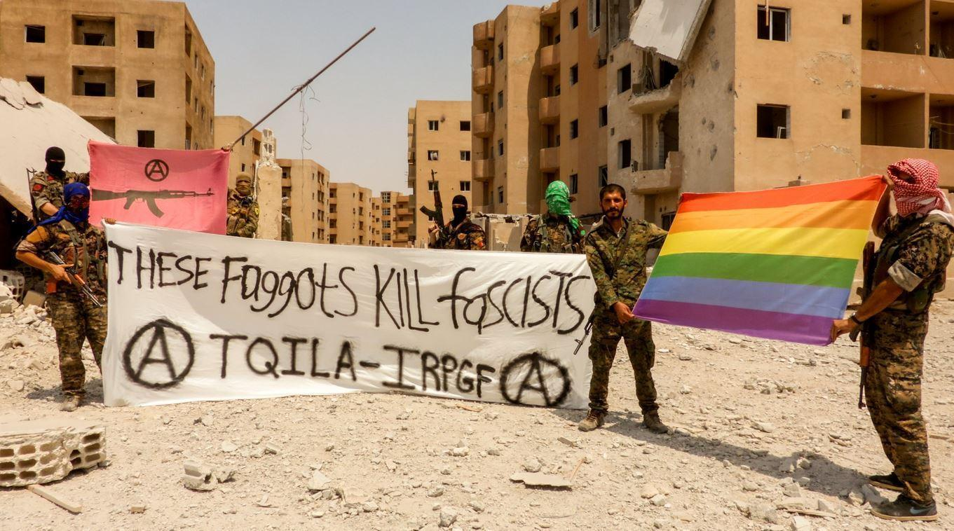 Militantes del Ejército de Liberación e Insurrección Queer. Fotografía:IRPGF