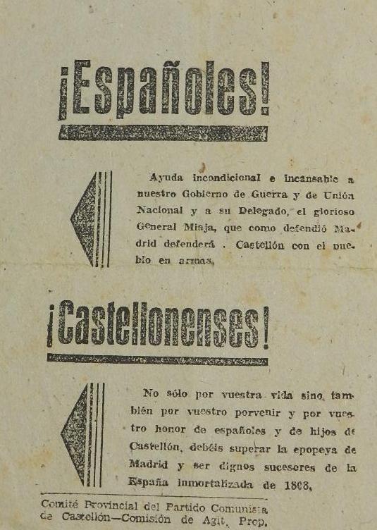 Panfletos agitprop del Partido Comunista