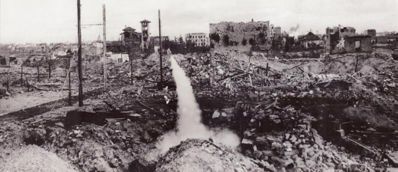 Lanzacohetes con propaganda antifascista (diciembre de 1937)