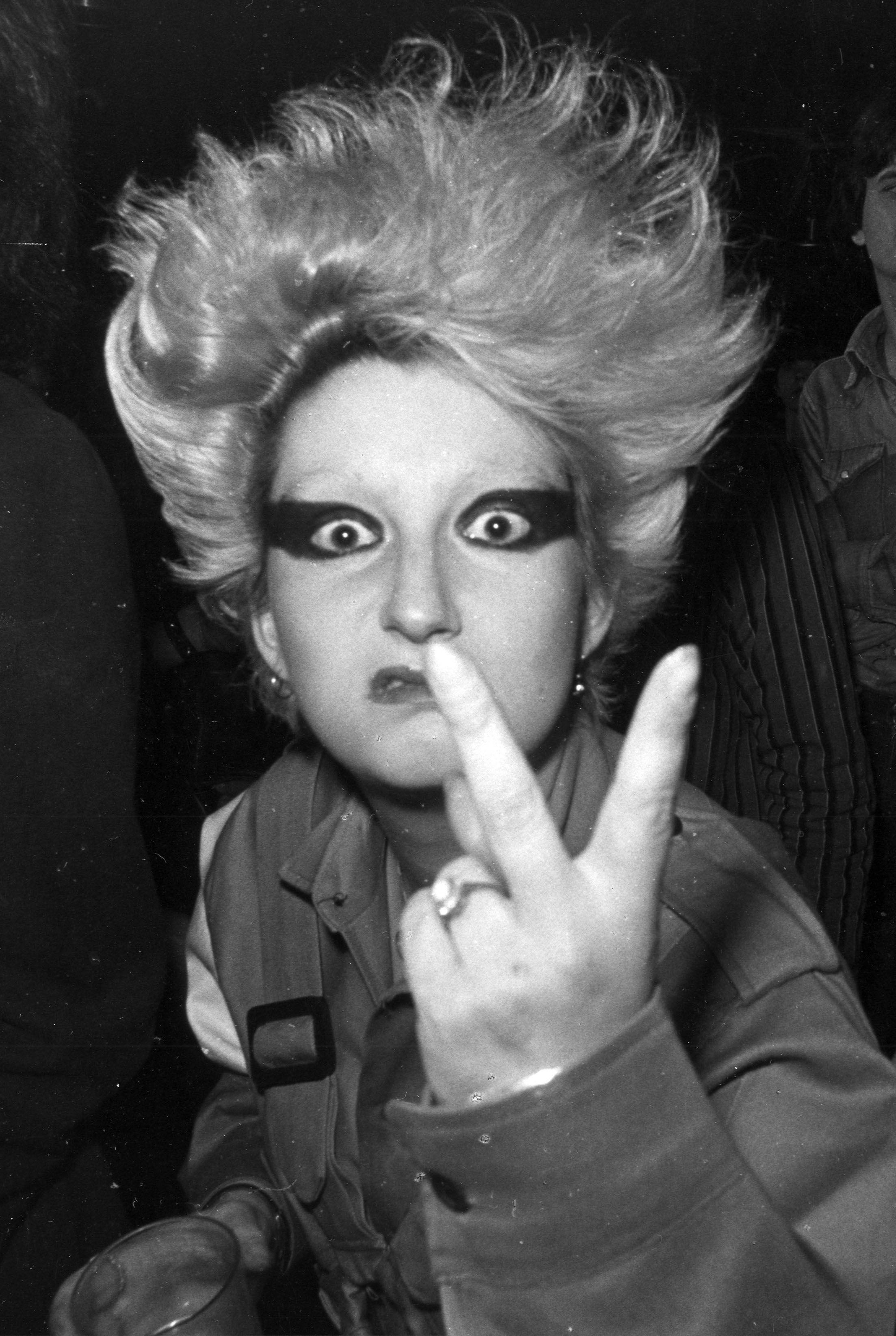 Jordan en una de sus imágenes icónicas de su etapa como musa del punk