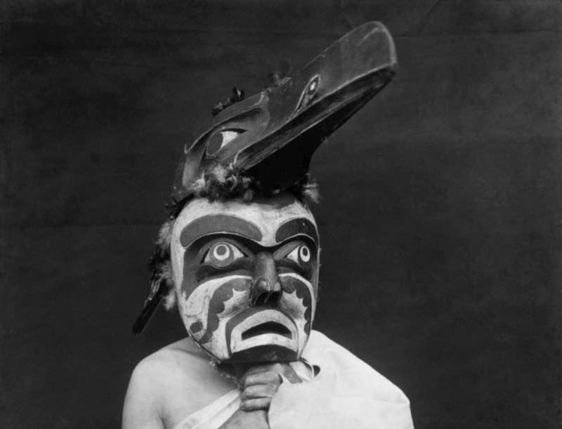 Untitled   (Raven-ma) Qagyuhl , Edward S. Curtis (1914)