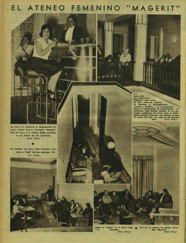 Interior del Ateneo Magerit ( Ahora , 4 de marzo de 1932)