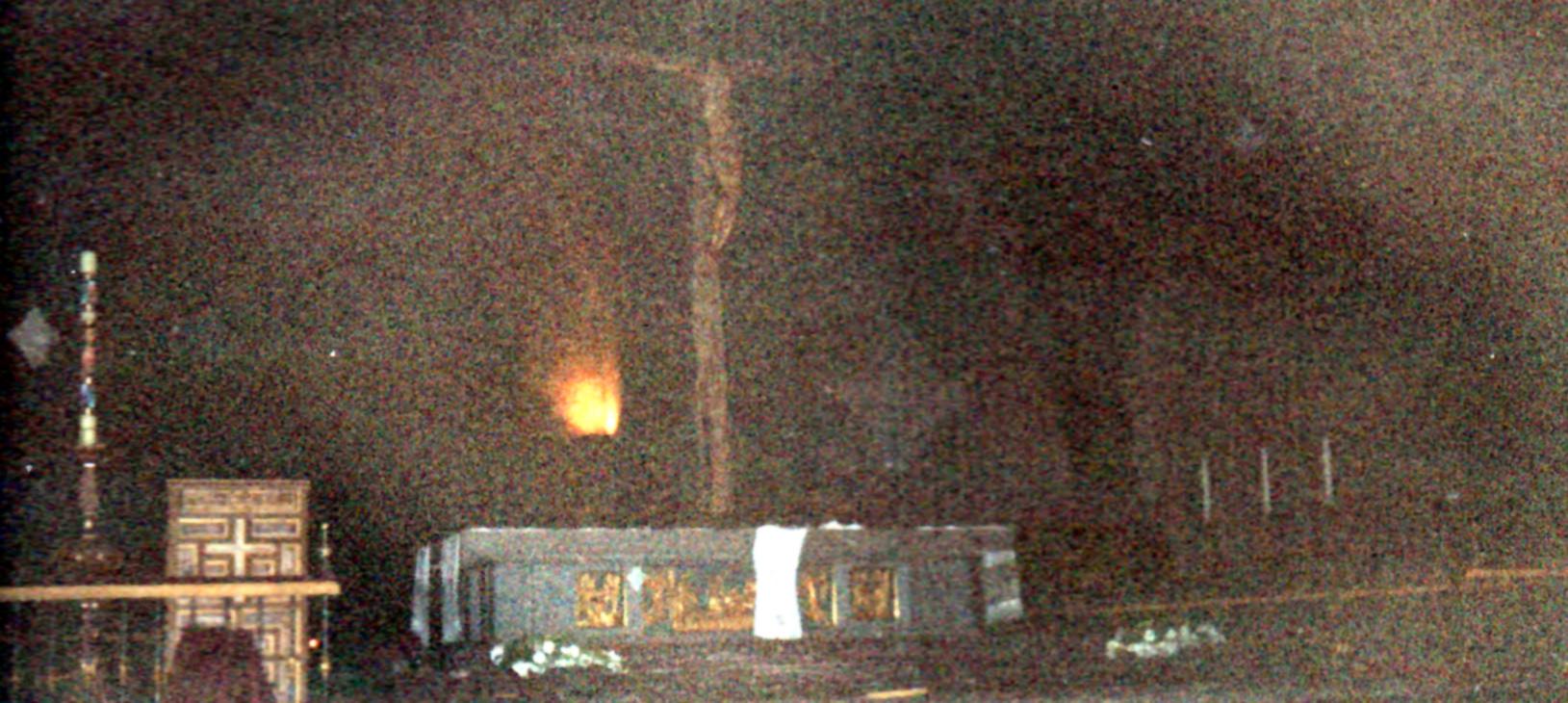 Instantes después del atentado de GRAPO contra la Basílica del Valle de los Caídos