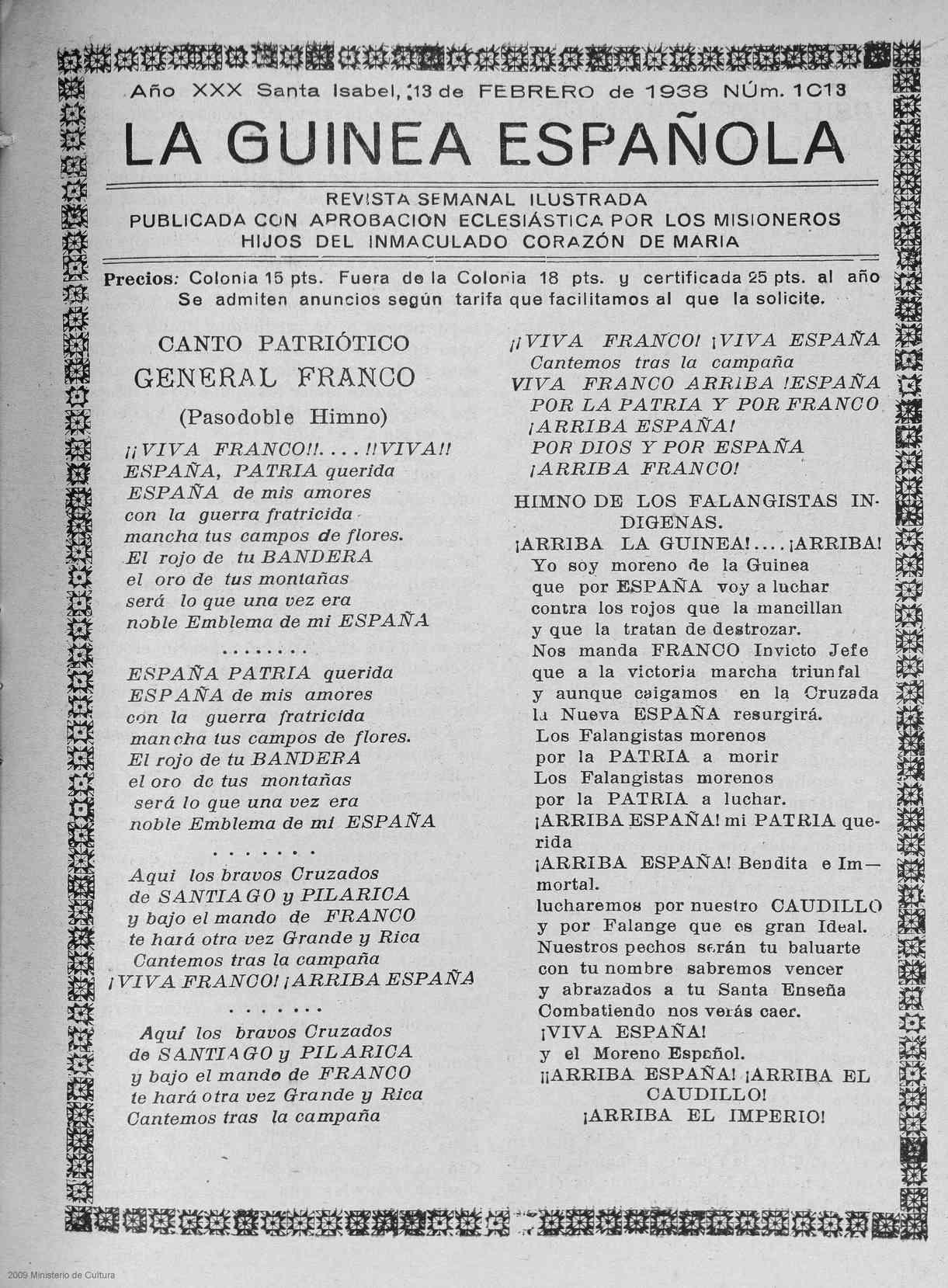 La Guinea Española  (13 de febrero de 1938)