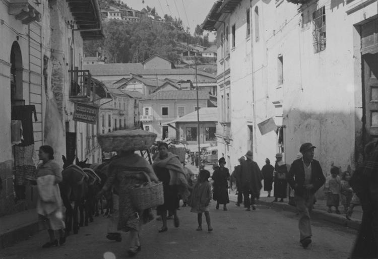 El centro de Quito en una imagen de 1949