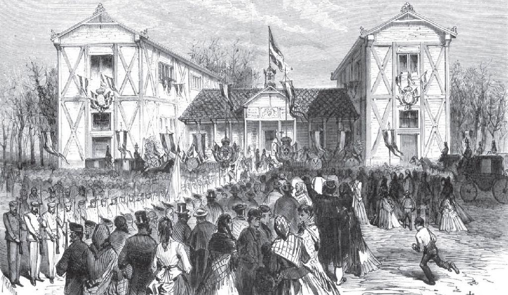 «Inauguración del Asilo de Lavanderas en Madrid, el 24 de enero de 1872». Dibujo de Miranda en en la revista española  La Ilustración Española y Americana
