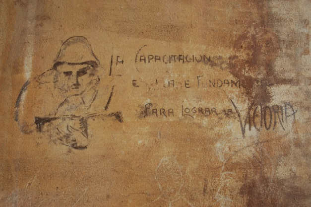 Grafiti aparecido en Plana de Baixa (Castellón)