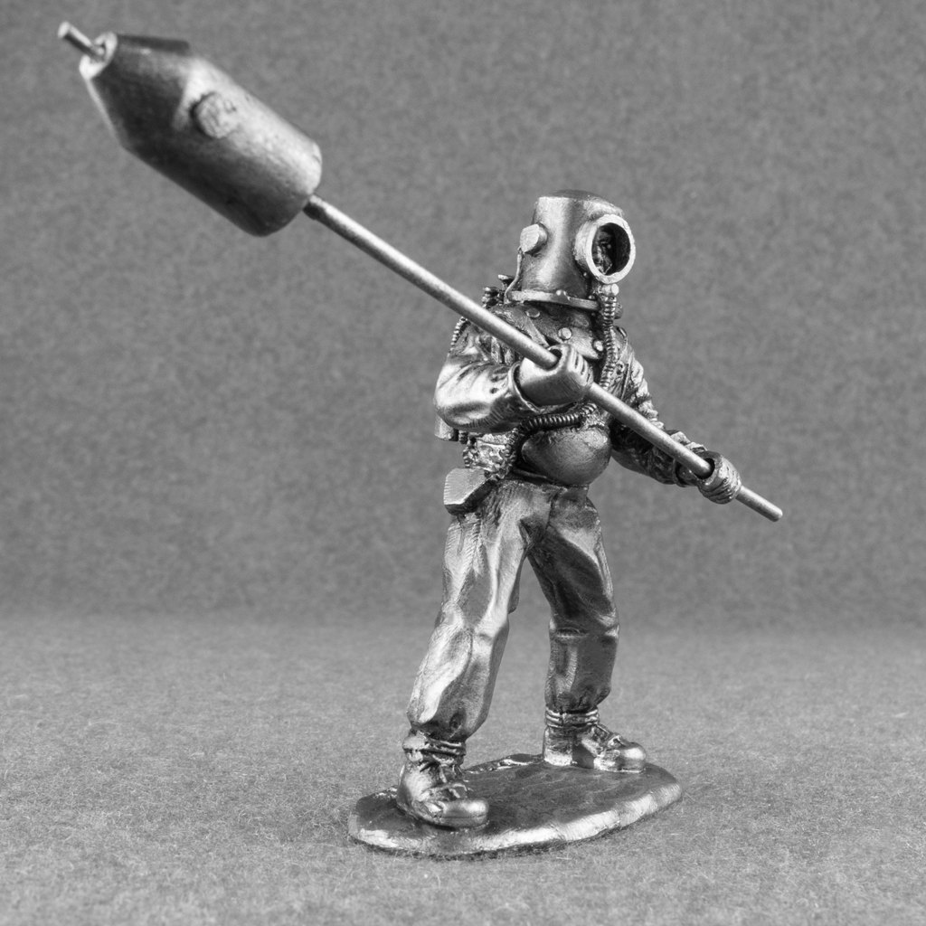 Miniatura de un submarinista suicida