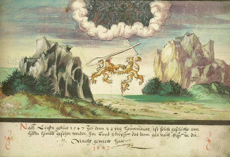 Augsburger_Wunderzeichenbuch_—_Folio_157-_Himmelsschlacht,_Löwen_über_Glarus_1547.jpg