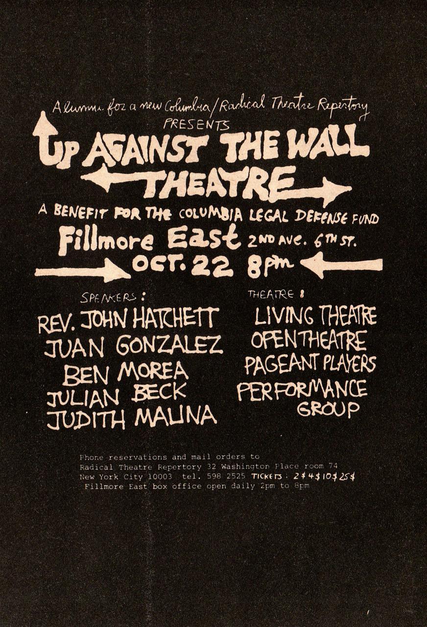 Cartel de uno de los actos benéficos organizados por los Motherfuckers en el Fillmore (22 de octubre de 1968)