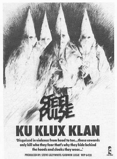 Anuncio del single «Ku Klux Klan» en  NME  (1978)