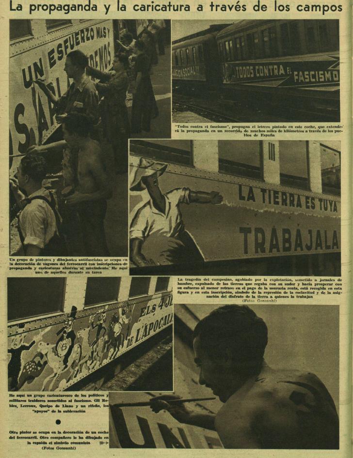 Trenes de agitación ( Ahora , 22 de septiembre de 1936)
