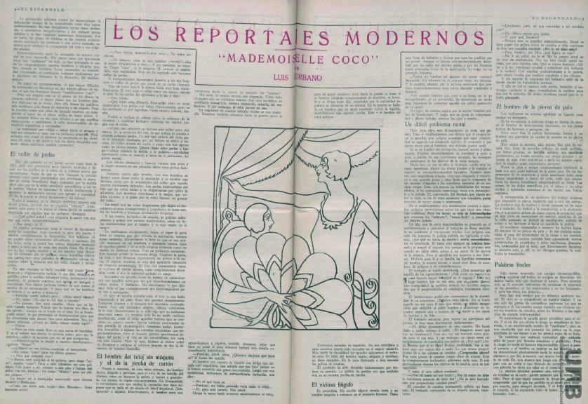 El Escándalo , 3 de junio de 1926, primer reportaje en que aparece el famoso «camello»