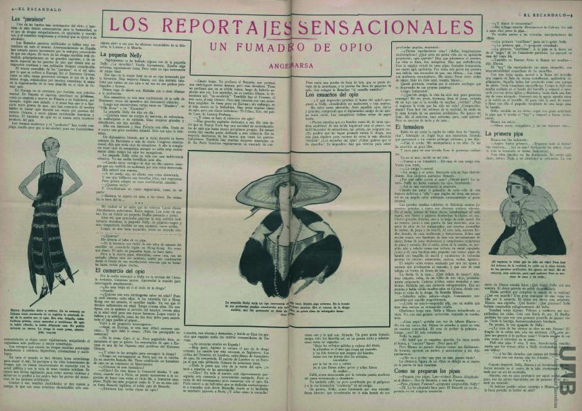 «Un fumadero de opio», segunda referencia al jorobado «camello» ( El Escándalo , 14 de octubre de 1926)