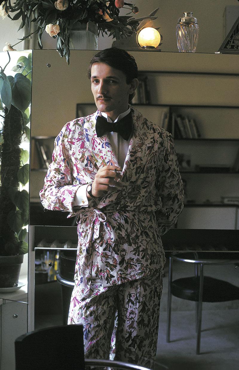 Jacques de Bascher en  Vogue Magazine . Fotografía: Alex Chatelain