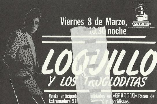 Loquillo y los Trogloditas en el Astoria (8 de marzo de 1985)