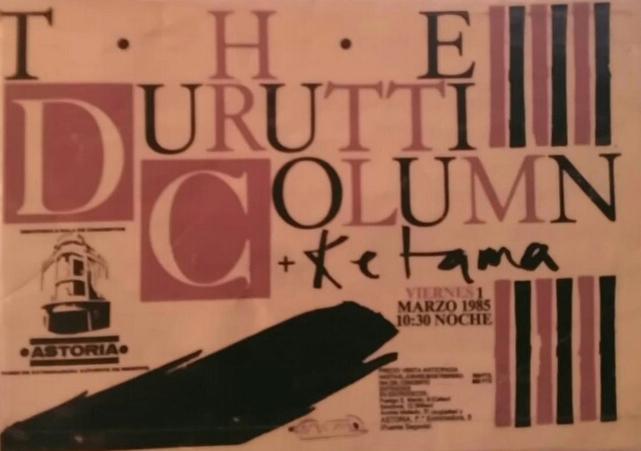 The Durutti Column y Ketama en el Astoria (1 de marzo de 1985)