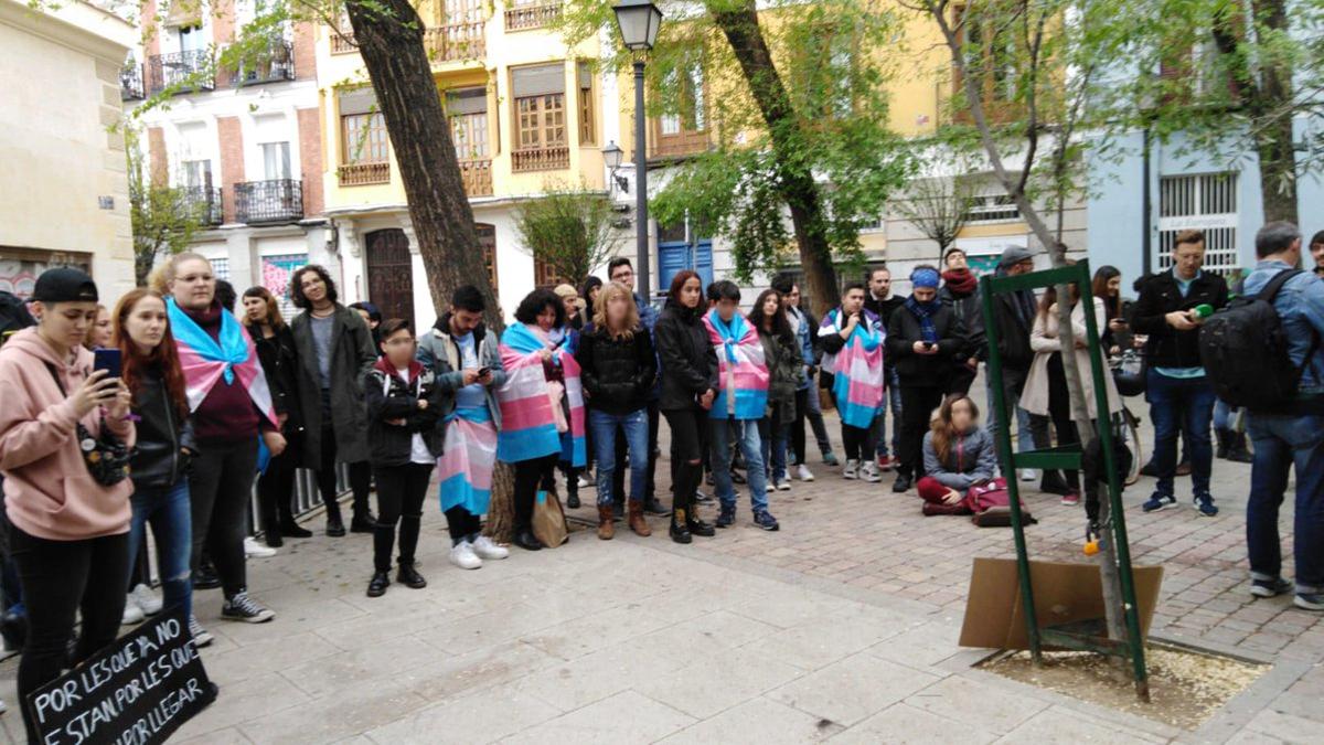 Acto del Día de la Visibilidad Trans en la Plazuela de la Memoria Trans | COGAM (31 de marzo de 2019, Madrid)