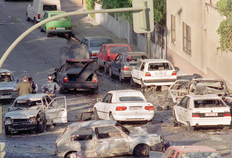 Imagen tras el atentado contra Aznar en abril de 1995. Fotografía: Prensa Ibérica