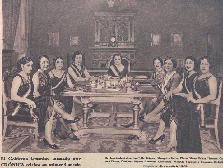 El Gobierno Cupleteril al completo ( Crónica , 22 de junio de 1930)