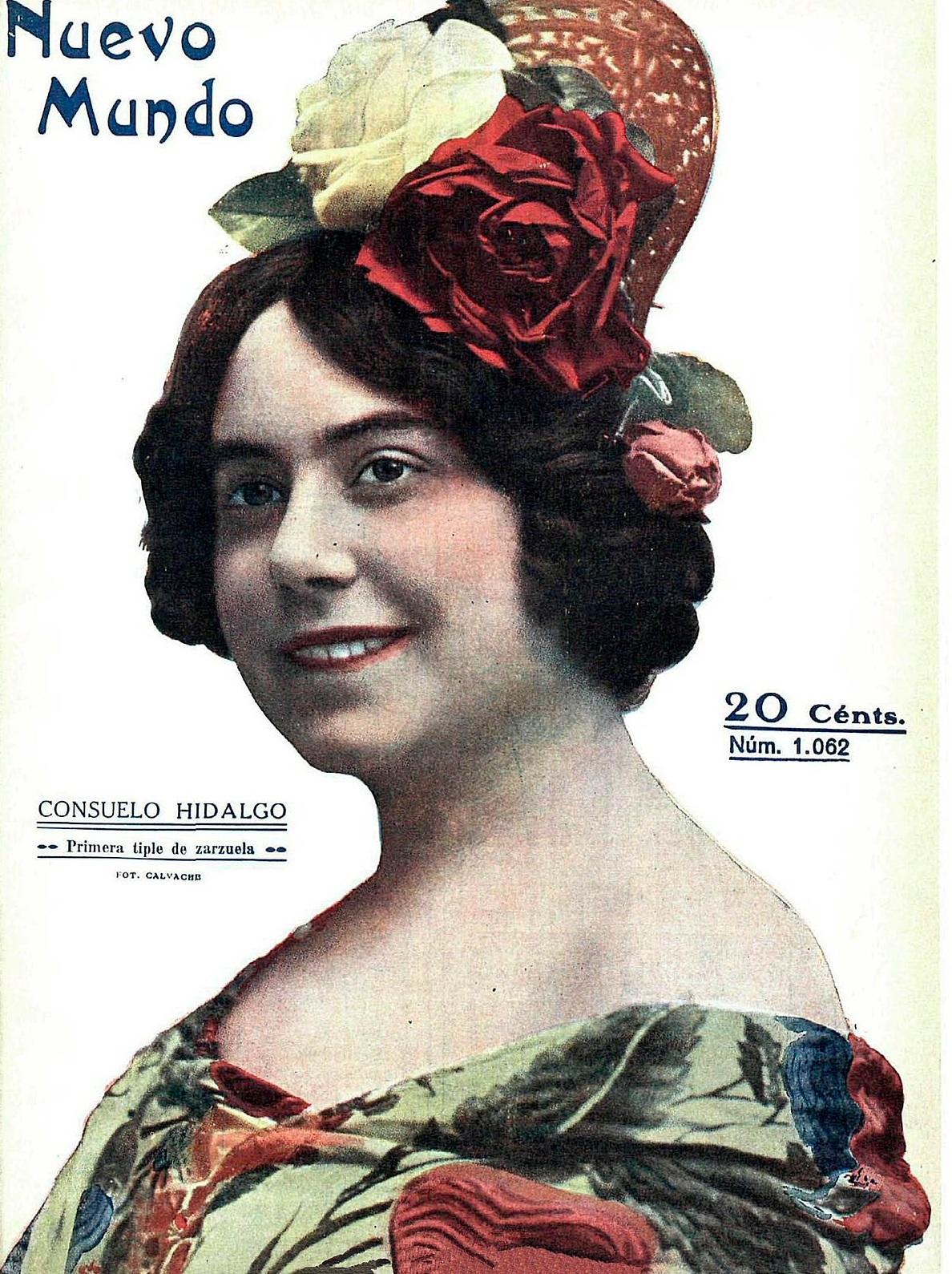 Consuelo Hidalgo en  Nuevo Mundo  (mayo de 1914)